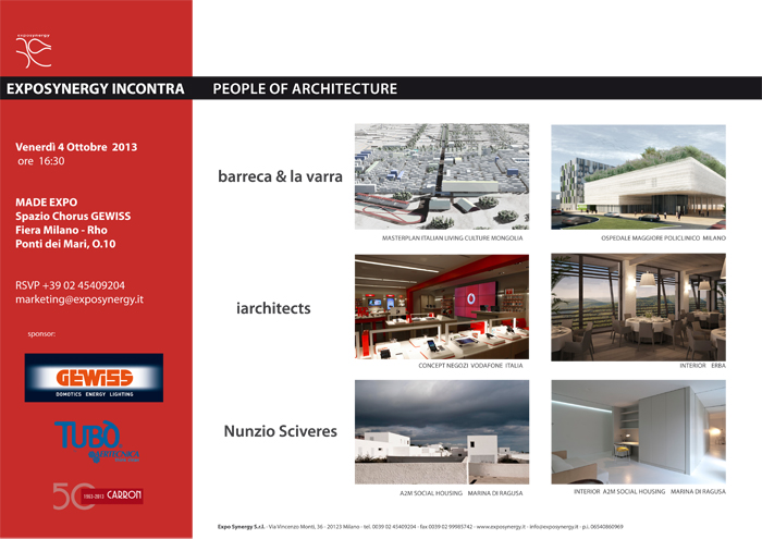 Exposynergy incontra People of Architecture