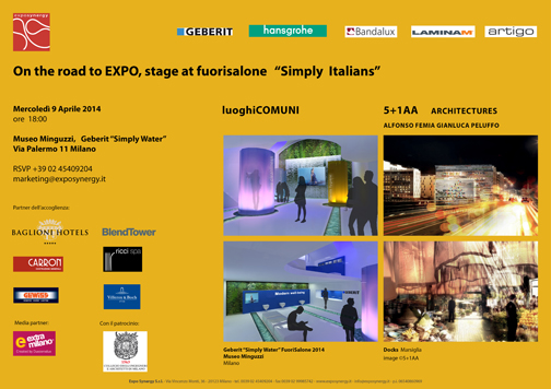"On the road to Expo_Stage at Fuorisalone ""Simply Italians"""